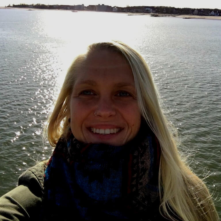 Bergwaldprojekt Amrum - Claudi on the ferry | GreenMe Berlin on the road